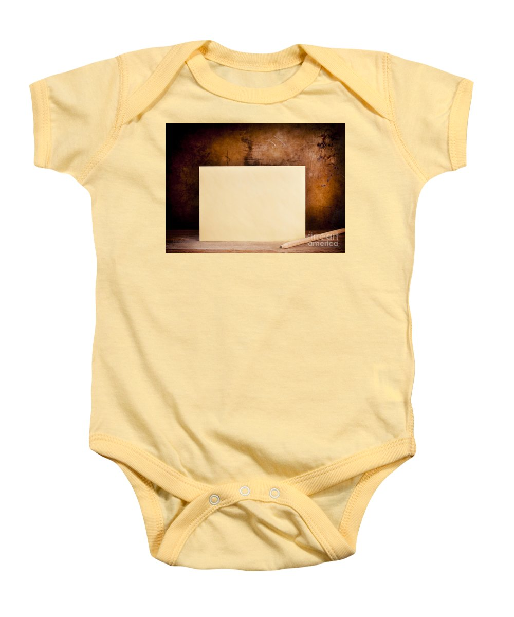 Ancient Baby Onesie featuring the photograph Vintage Envelope Background by Tim Hester
