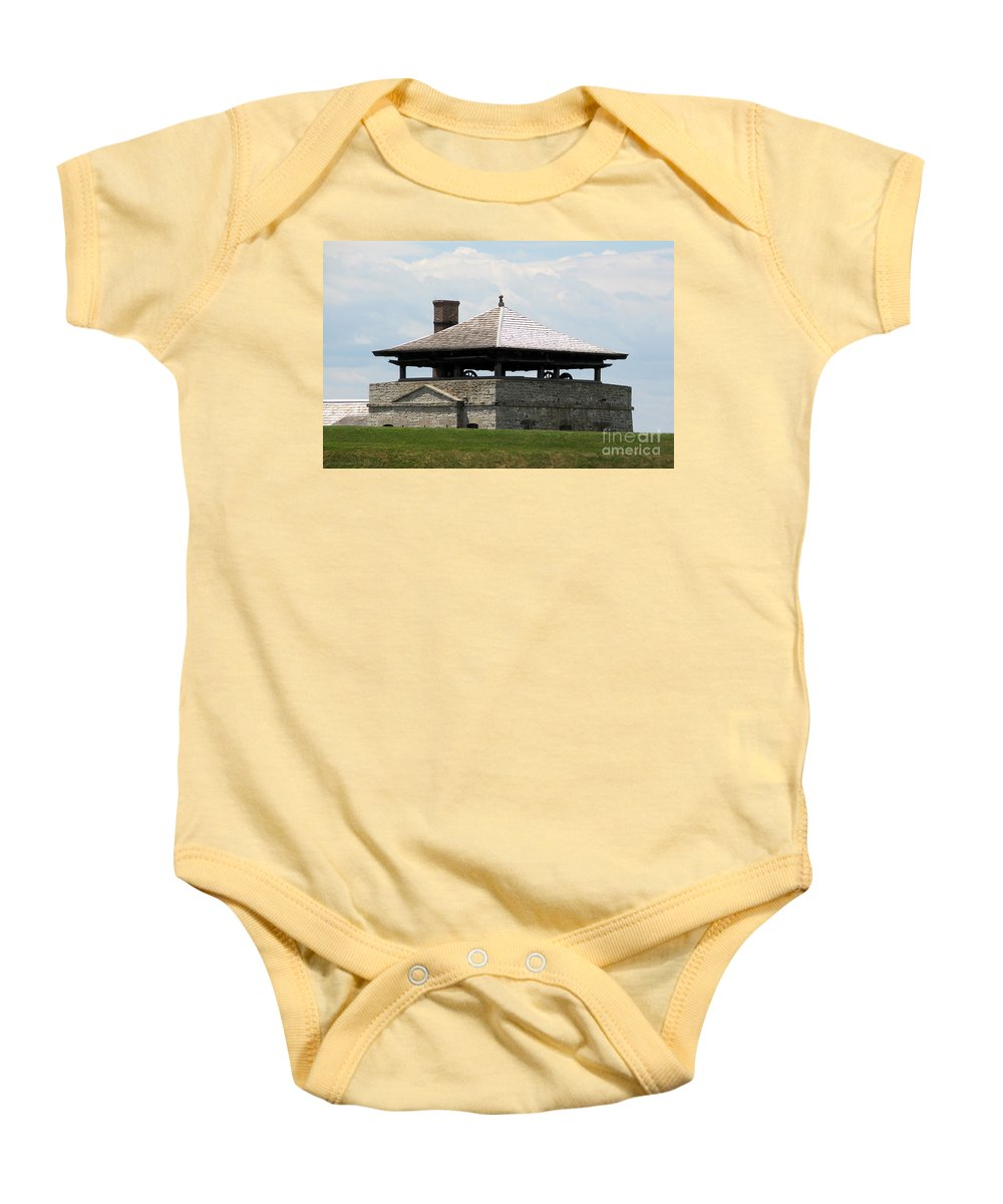 Bake House Baby Onesie featuring the photograph Bake House At Old Fort Niagara by Rose Santuci-Sofranko