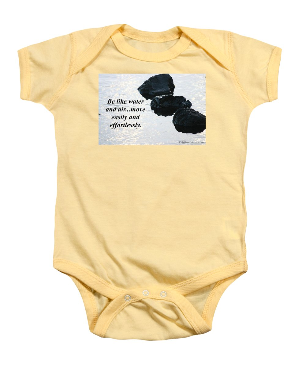 Maui Baby Onesie featuring the photograph Be Like Water And Air by Pharaoh Martin