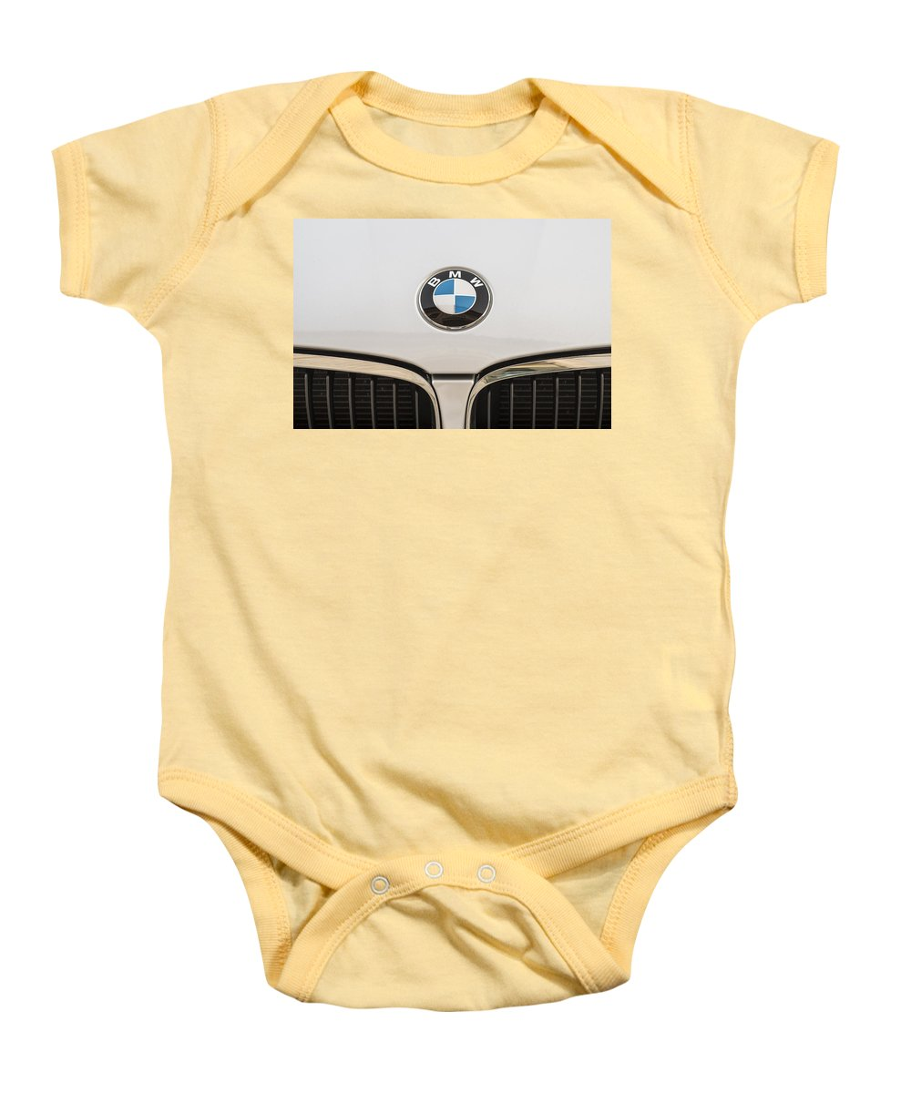 Transportation Baby Onesie featuring the photograph Bmw Emblem by Paulo Goncalves