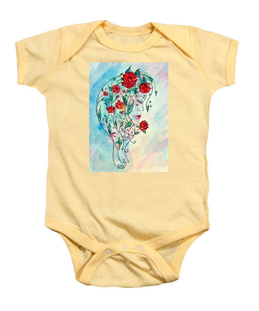 Bouquet Baby Onesie featuring the painting Bouquet Of Love by Robin Monroe
