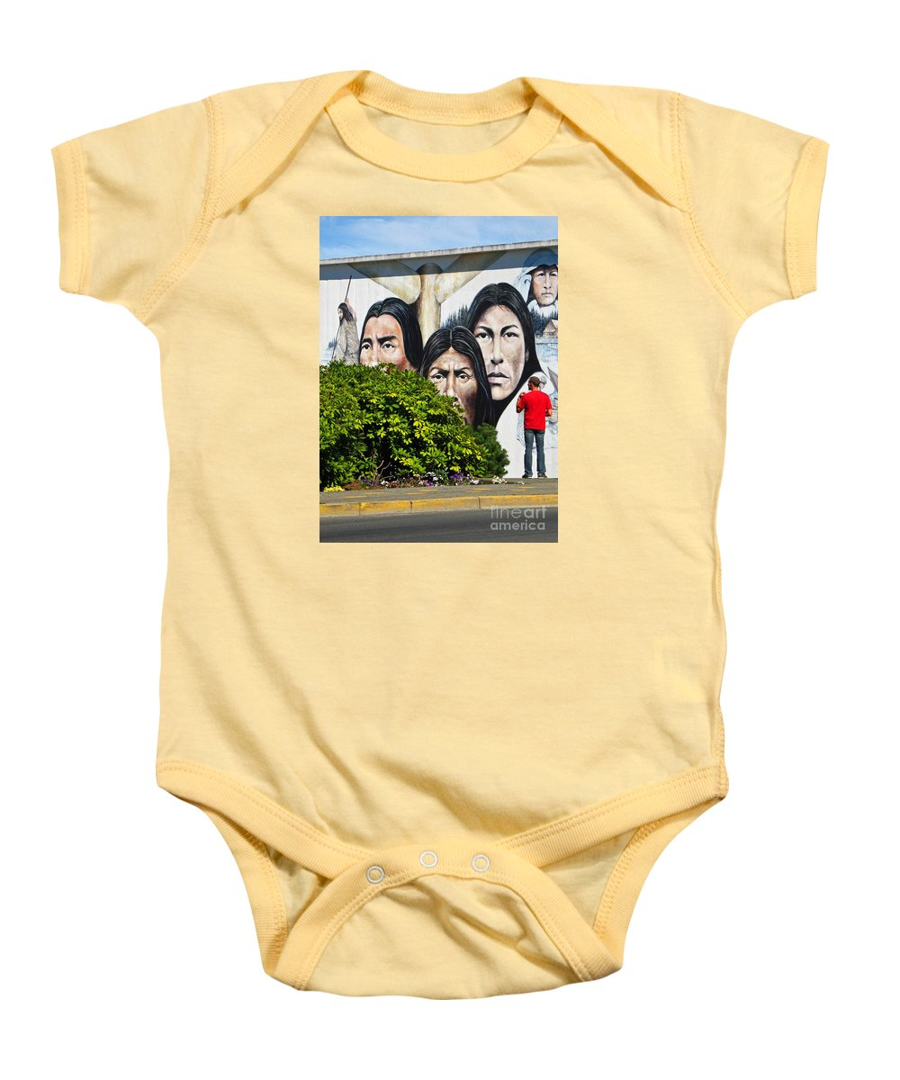 Canada Baby Onesie featuring the photograph Canadian Retrospective by Ann Horn