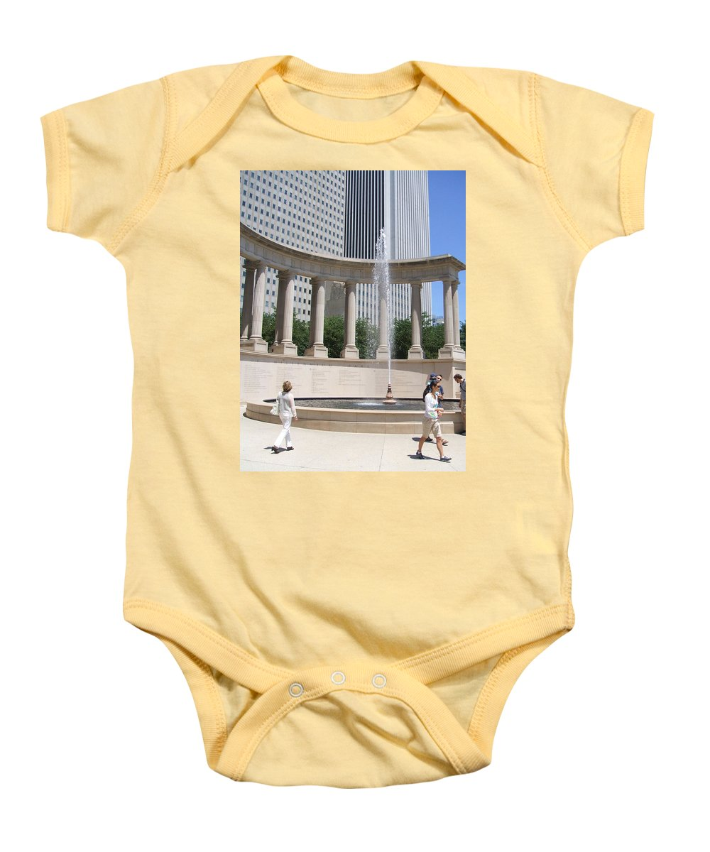 Chicago Baby Onesie featuring the photograph Chicago Tourism by Minding My Visions by Adri and Ray