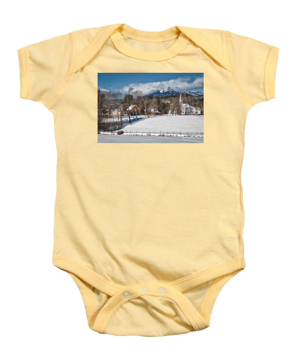 Baby Onesie featuring the photograph Chocorua - Where The Mountain Meets The Town by Scott Thorp