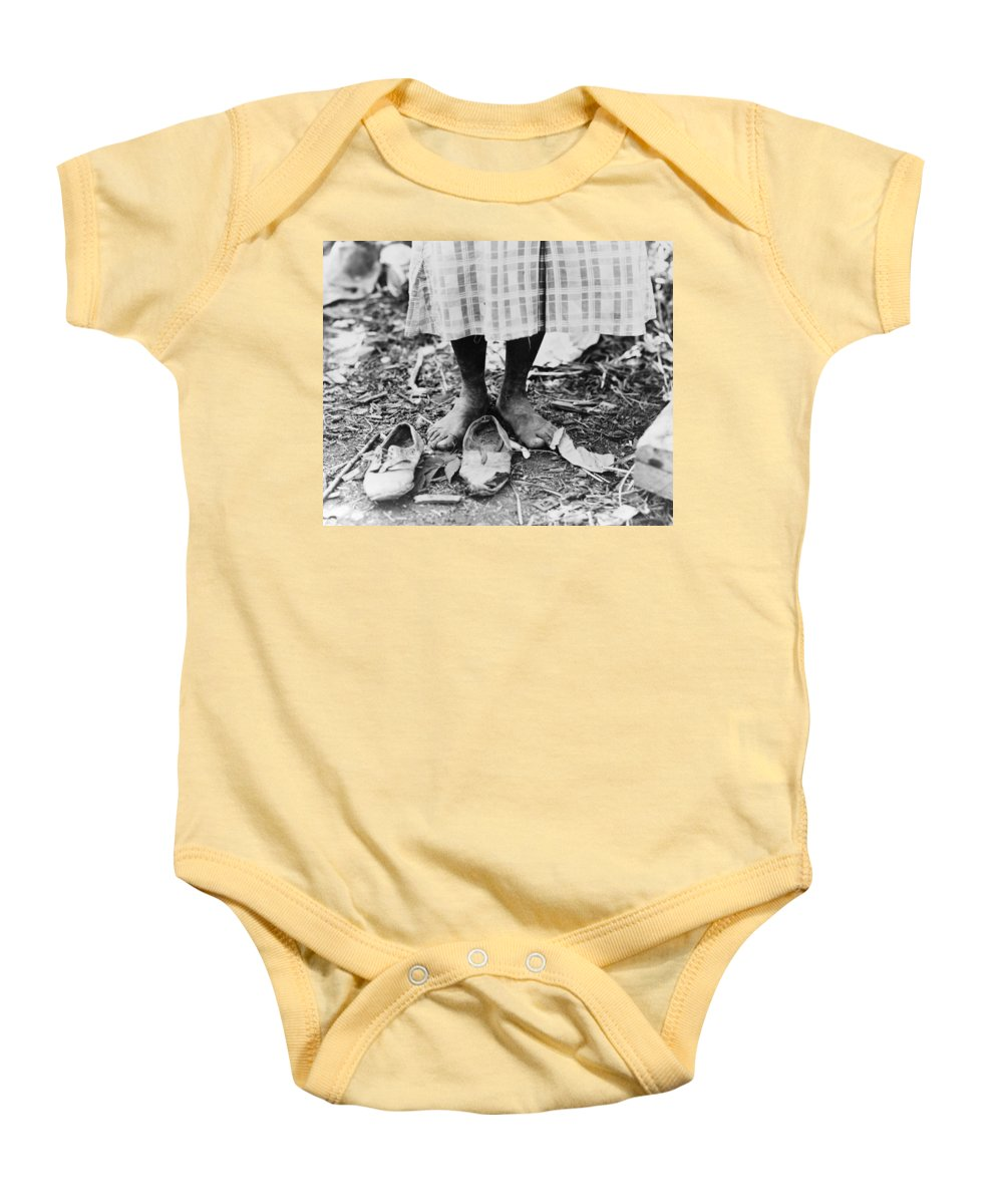 1937 Baby Onesie featuring the photograph Cotton Picker, 1937 by Granger