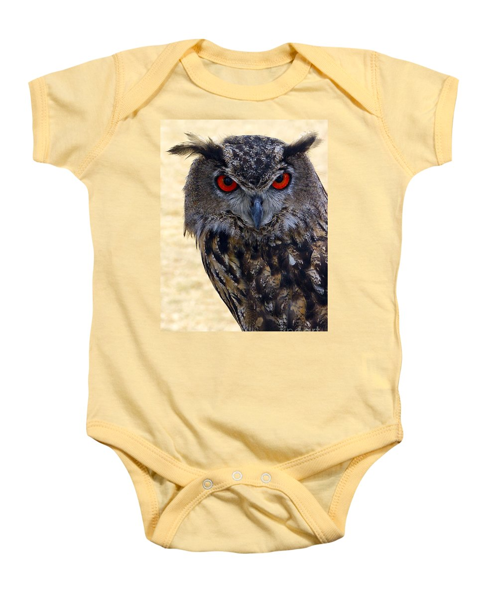 Owl Baby Onesie featuring the photograph Eagle Owl by Anthony Sacco