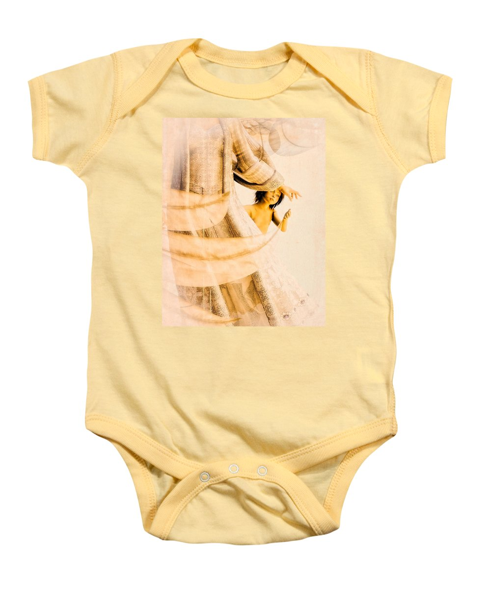 Angel Baby Onesie featuring the digital art God Bless This Child by Bob Orsillo