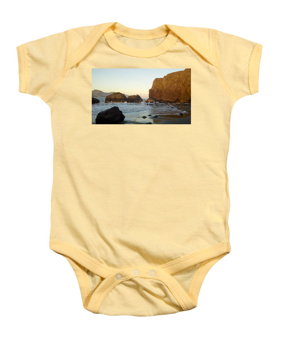 Golden Gate Bridge. San Francisco Baby Onesie featuring the photograph Golden Gate Bridge by Thomas Cheswick