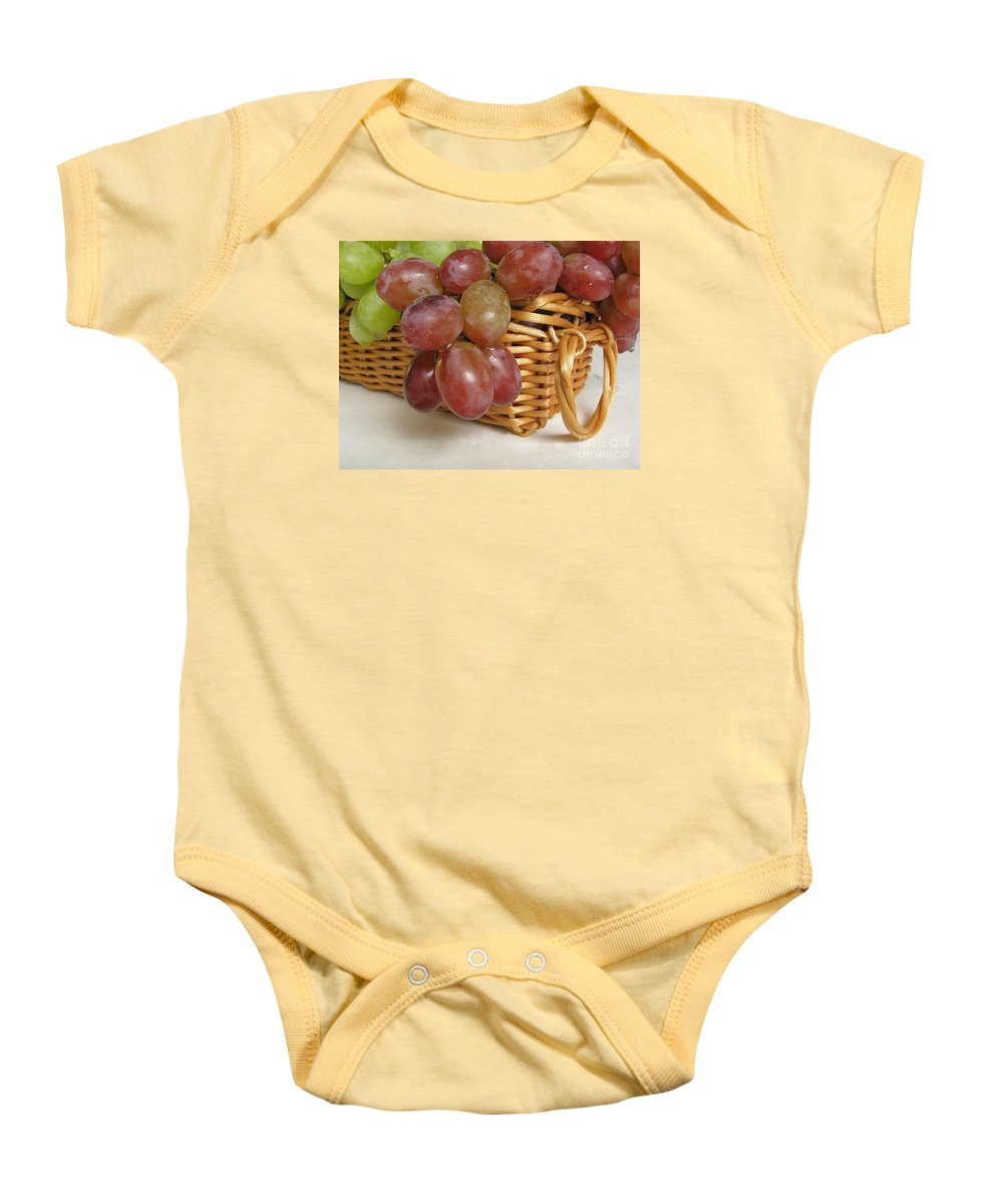 Grapes Baby Onesie featuring the photograph Healthy Snack by Ann Horn