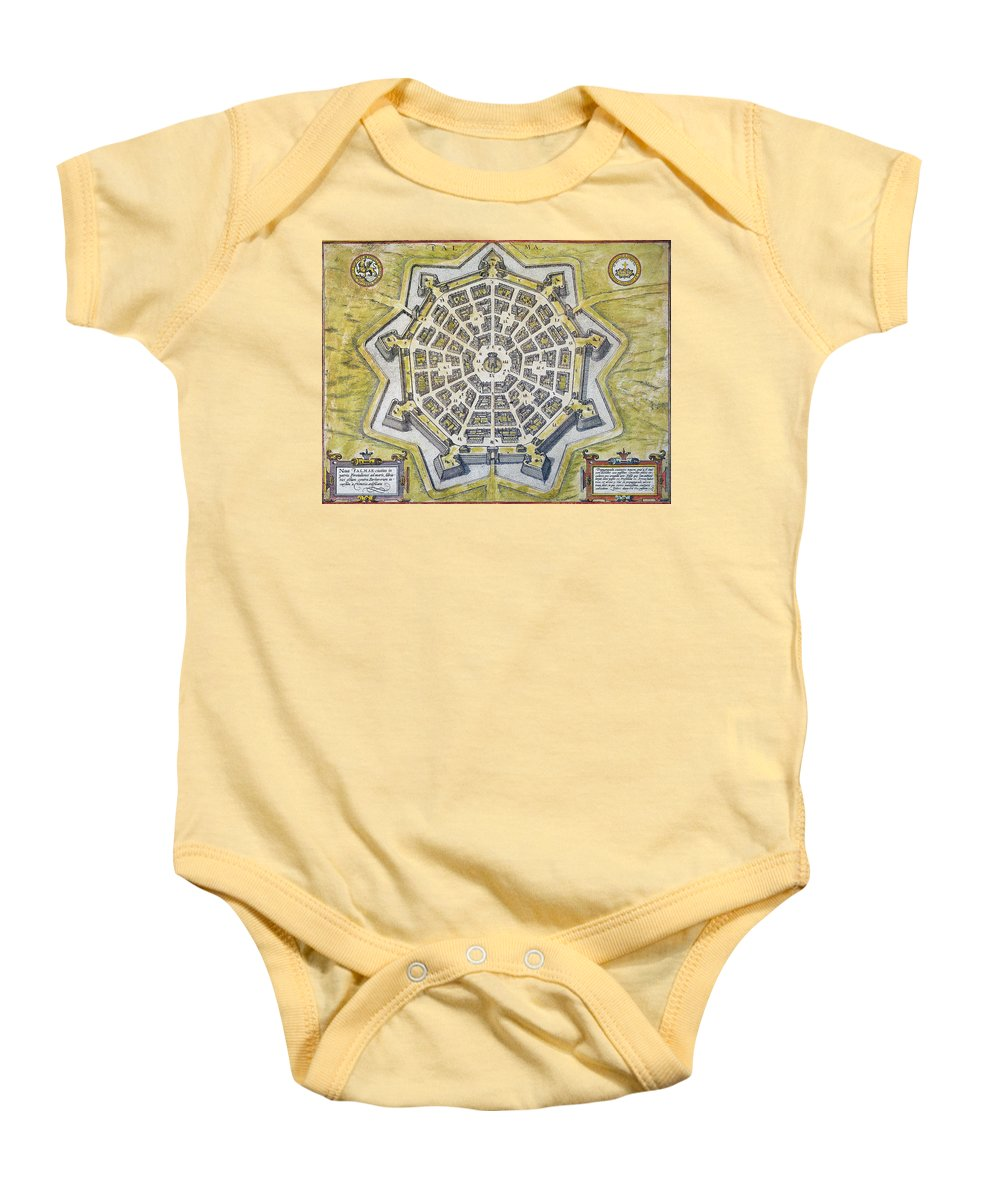 1598 Baby Onesie featuring the photograph Italy: Palmanova Map, 1598 by Granger