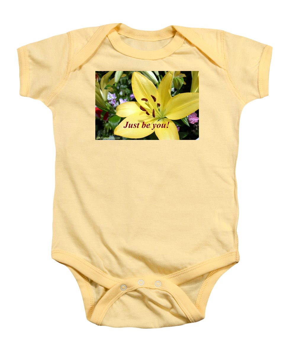 Flowers Baby Onesie featuring the photograph Just Be You by Pharaoh Martin