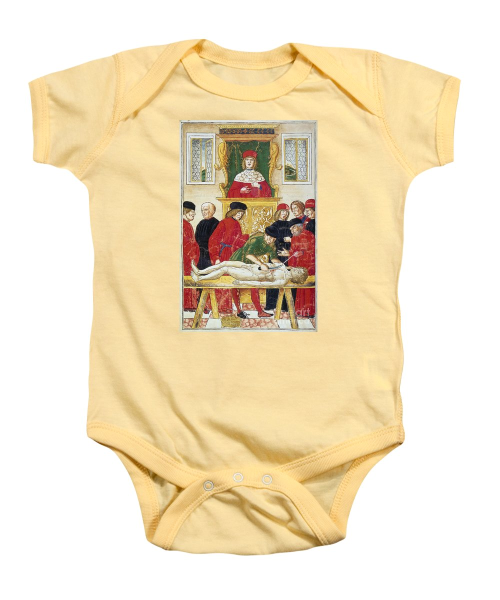 1493 Baby Onesie featuring the photograph Lesson In Dissection by Granger
