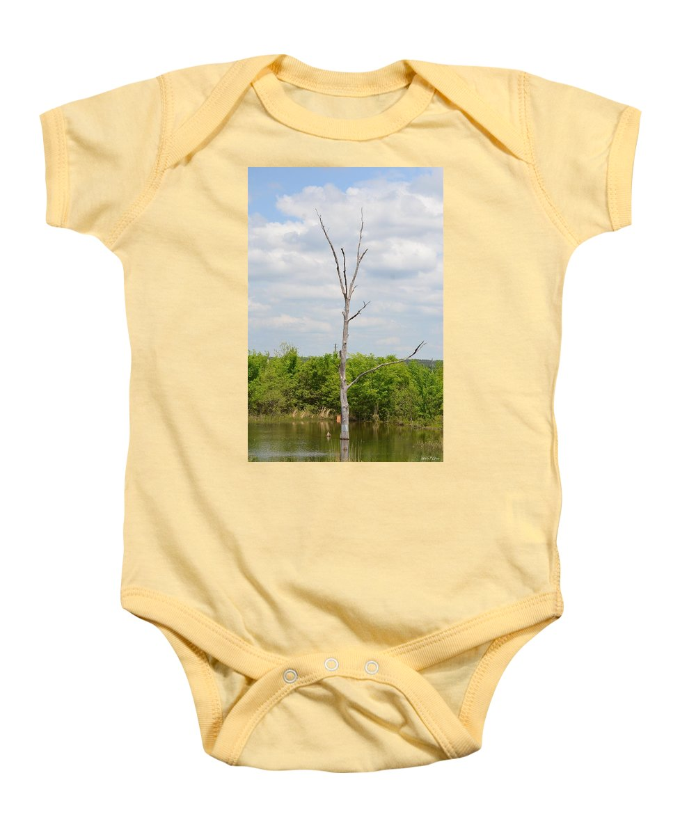 Marshwood Tree Baby Onesie featuring the photograph Marshwood Tree by Maria Urso