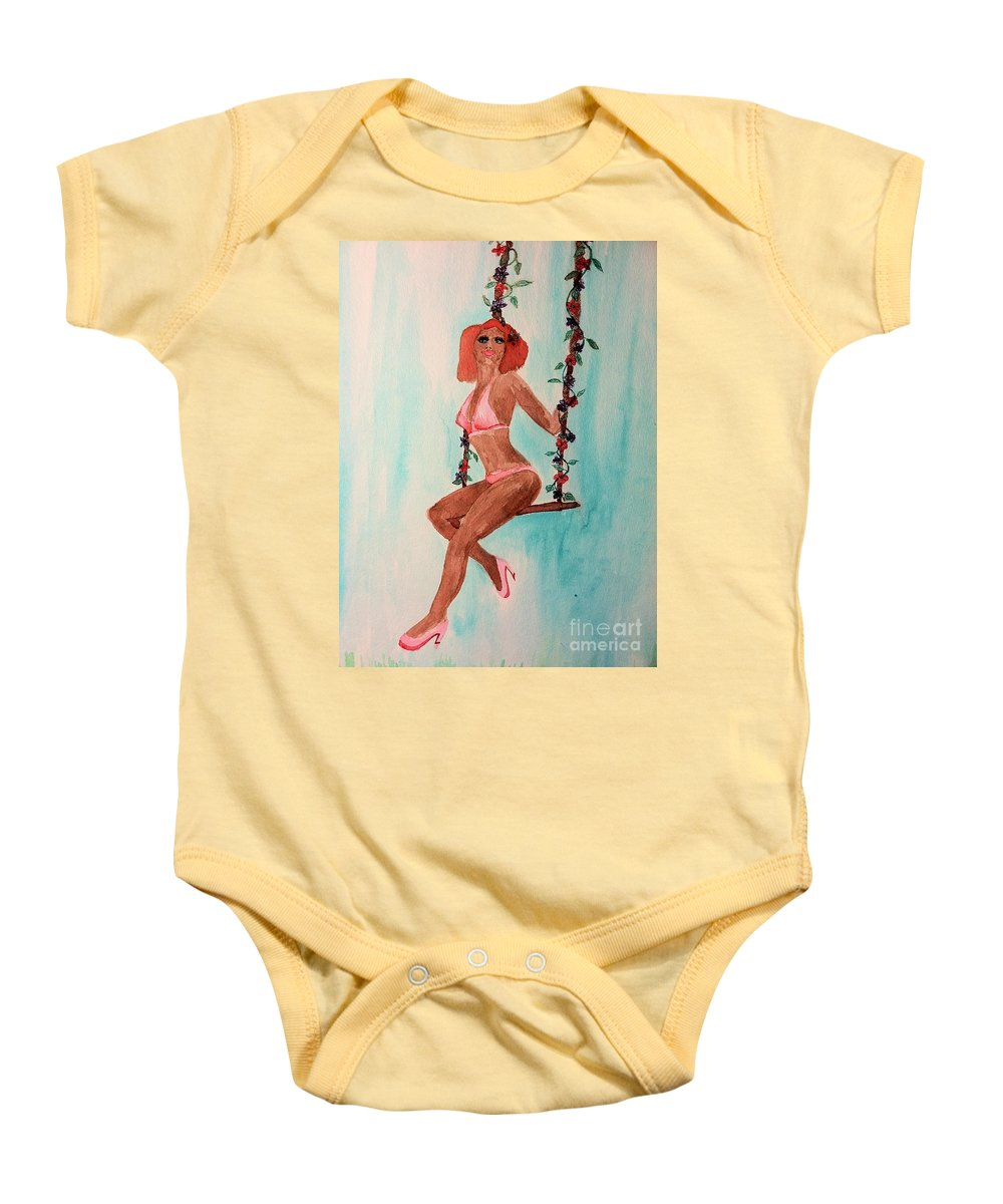 May Baby Onesie featuring the drawing May Flowers by Melissa Darnell Glowacki