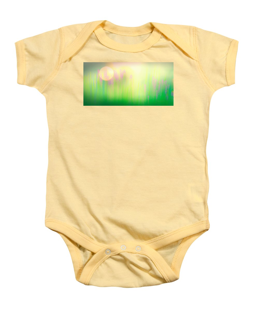 Flower Baby Onesie featuring the photograph Mid Summer Morning by Bob Orsillo