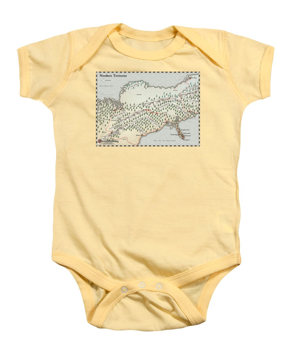 Usherwood Baby Onesie featuring the digital art Northern Territories by James Kramer