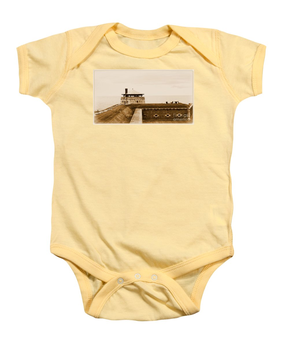 North Redoubt Baby Onesie featuring the photograph Old Fort Niagara North Redoubt by Rose Santuci-Sofranko