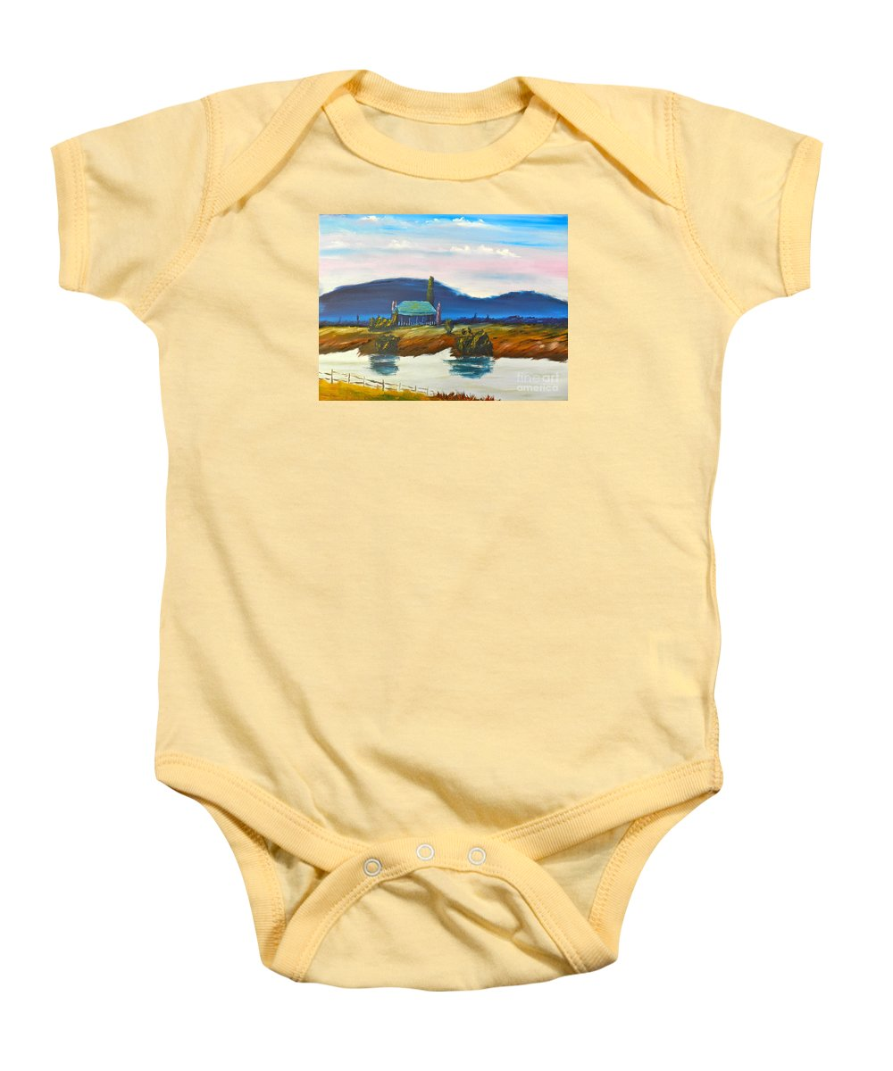 Impressionist Baby Onesie featuring the painting Pittown by Pamela Meredith