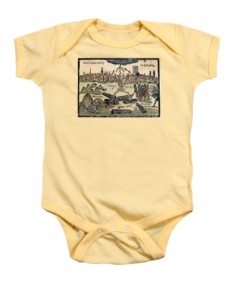 1665 Baby Onesie featuring the photograph Plague Of London, 1665 by Granger