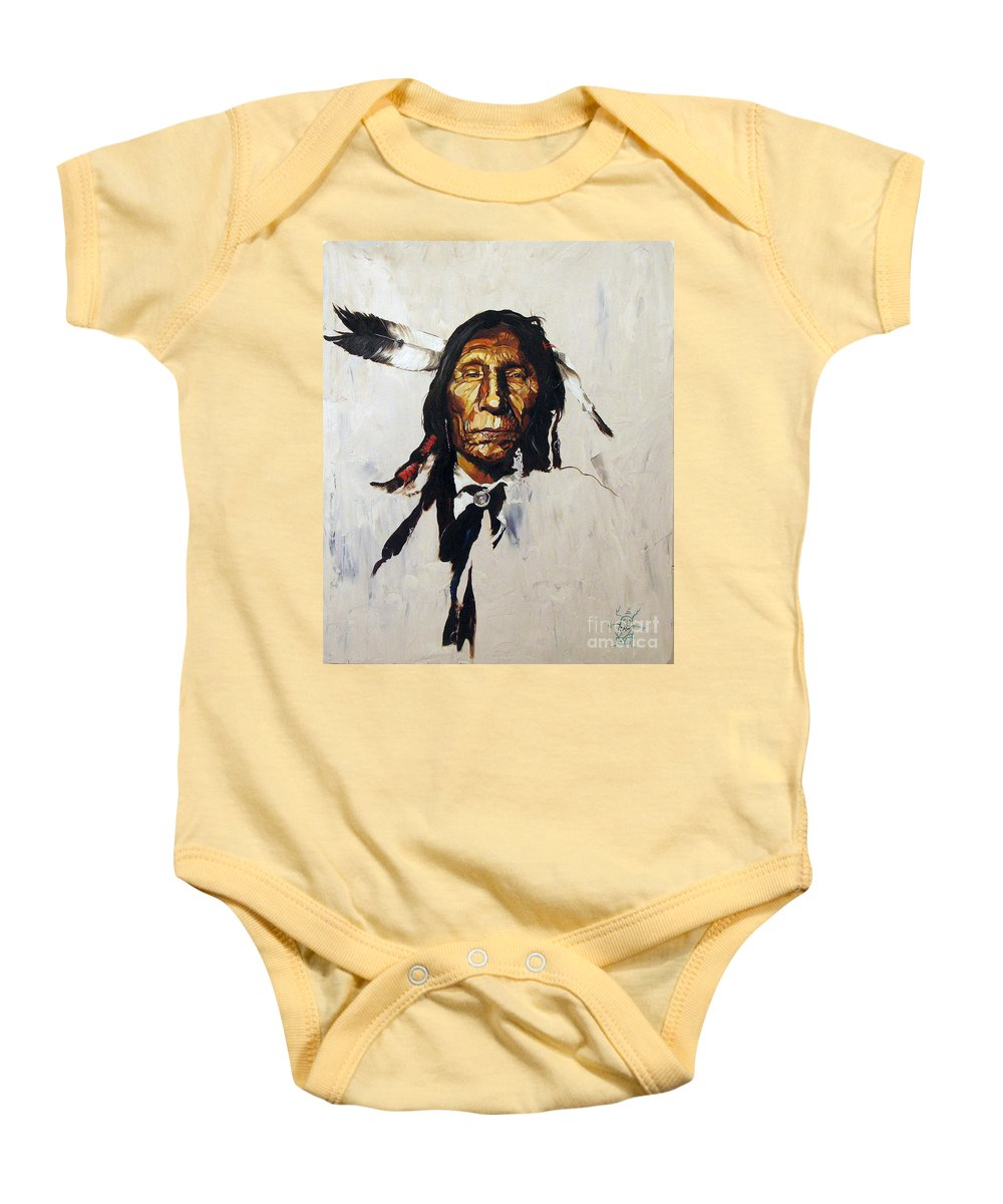Southwest Art Baby Onesie featuring the painting Remember by J W Baker