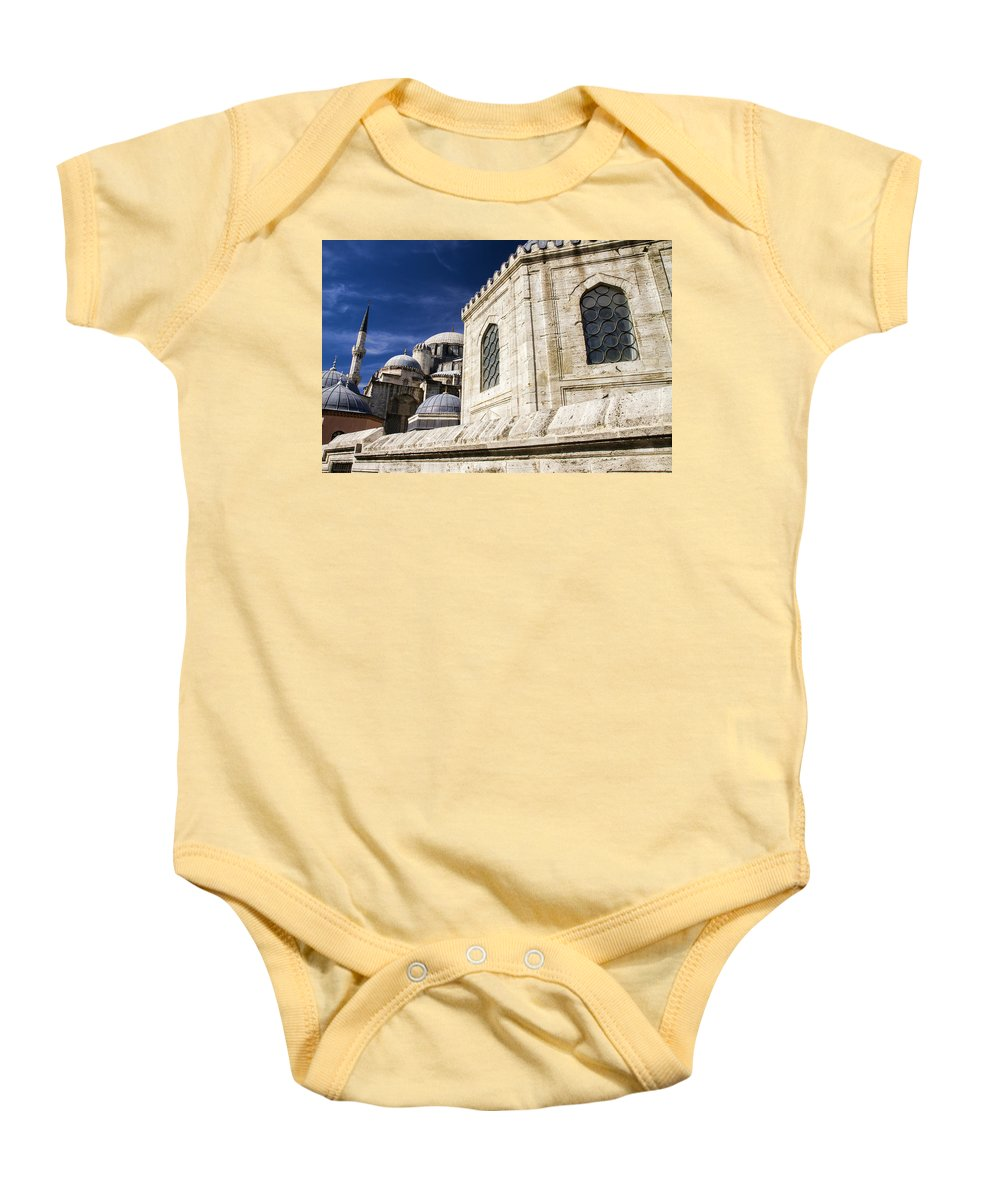 Sehzade Mosque Baby Onesie featuring the photograph Sehzade Mosque Istanbul by For Ninety One Days