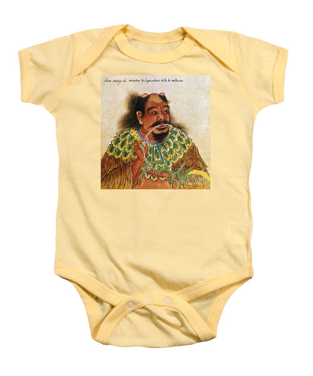 1st Baby Onesie featuring the photograph Shen Nung (c2800 B.c.) by Granger