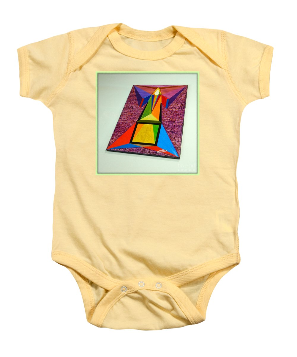 Spirituality Baby Onesie featuring the painting Shot Shift - Liberte 2 by Michael Bellon