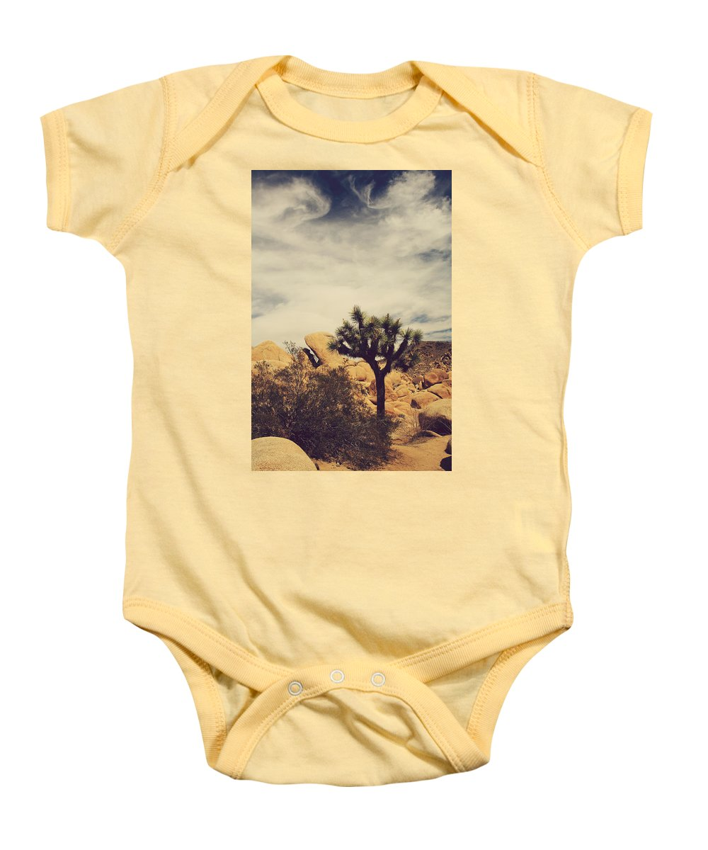 Joshua Tree National Park Baby Onesie featuring the photograph Solitary Man by Laurie Search