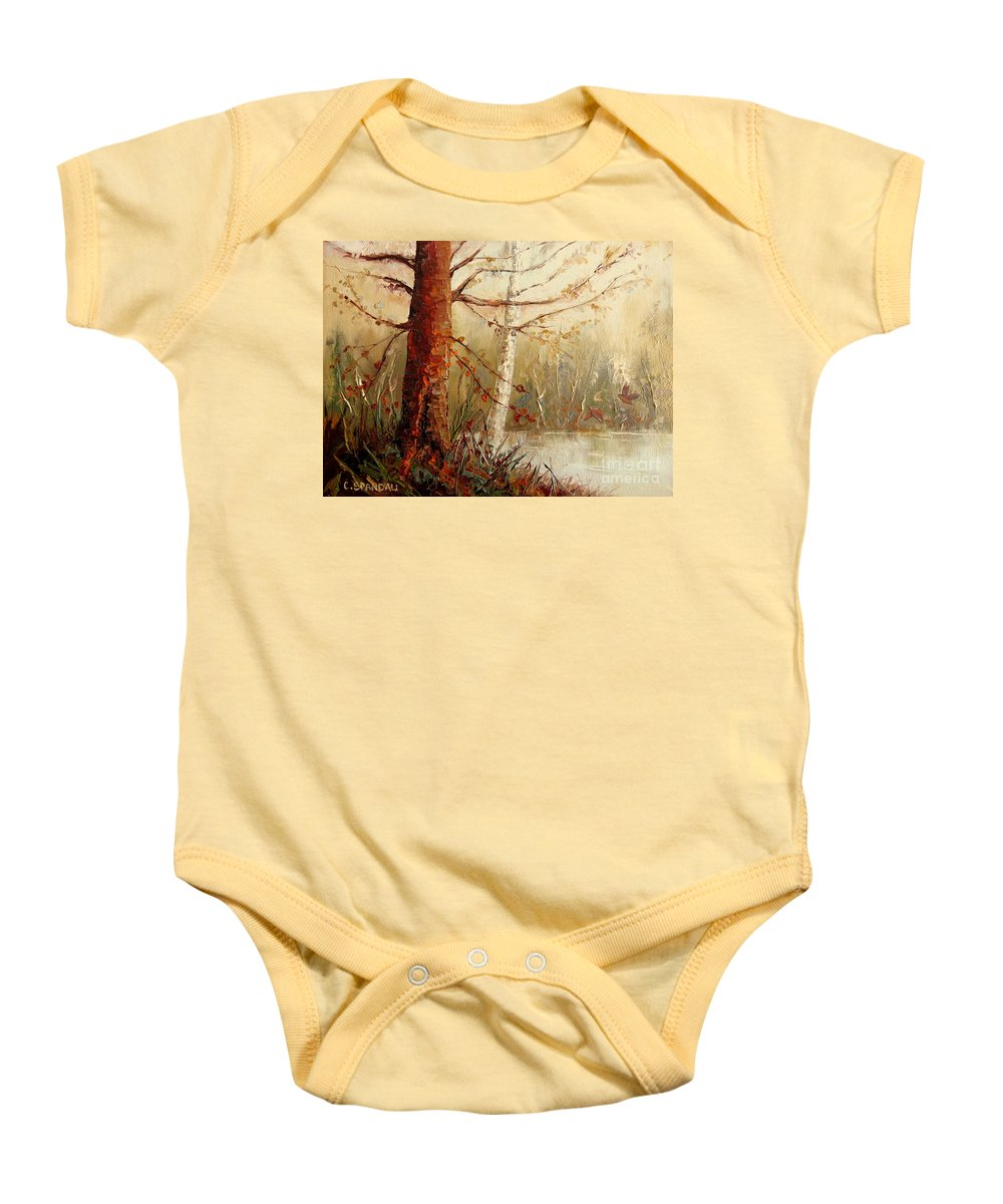 The African Prince Baby Onesie featuring the painting The African Prince by Carole Spandau