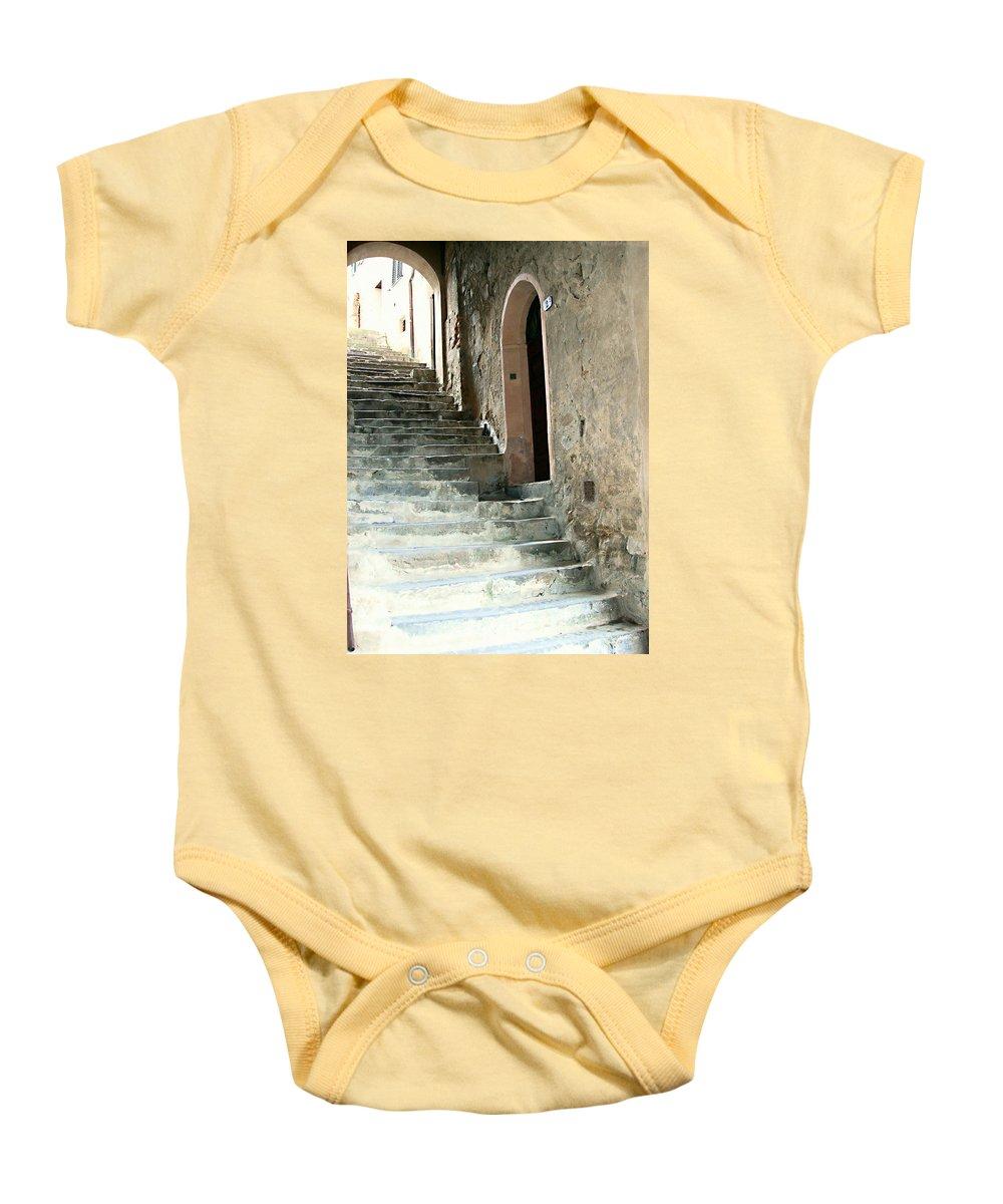 Time-worn Passage Baby Onesie featuring the photograph Time-worn Passage by Ellen Henneke