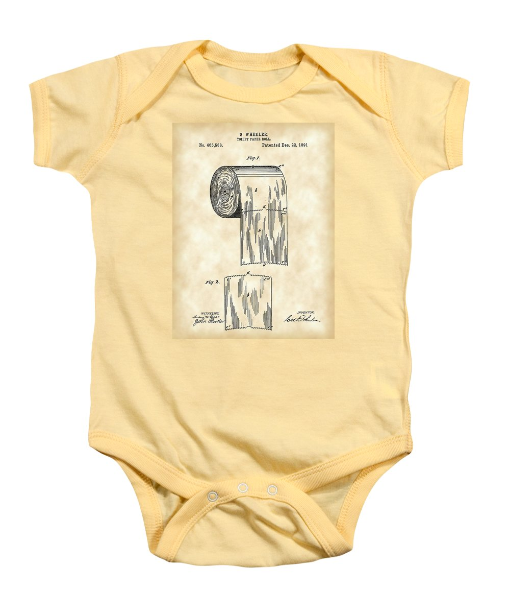Toilet Paper Roll Patent 1891 - Vintage Onesie for Sale by Stephen ...
