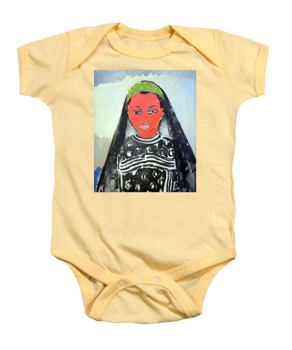 Saida Baby Onesie featuring the photograph Van Dongen's Saida by Cora Wandel