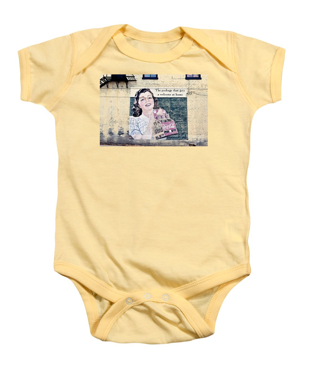 Coca Cola Baby Onesie featuring the photograph Welcome At Home by Scott Pellegrin