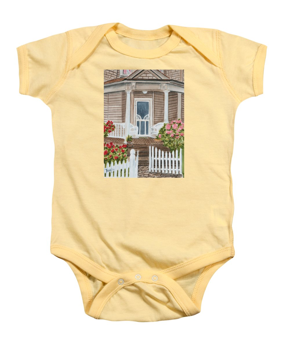 Architecture Baby Onesie featuring the painting Welcome by Regan J Smith
