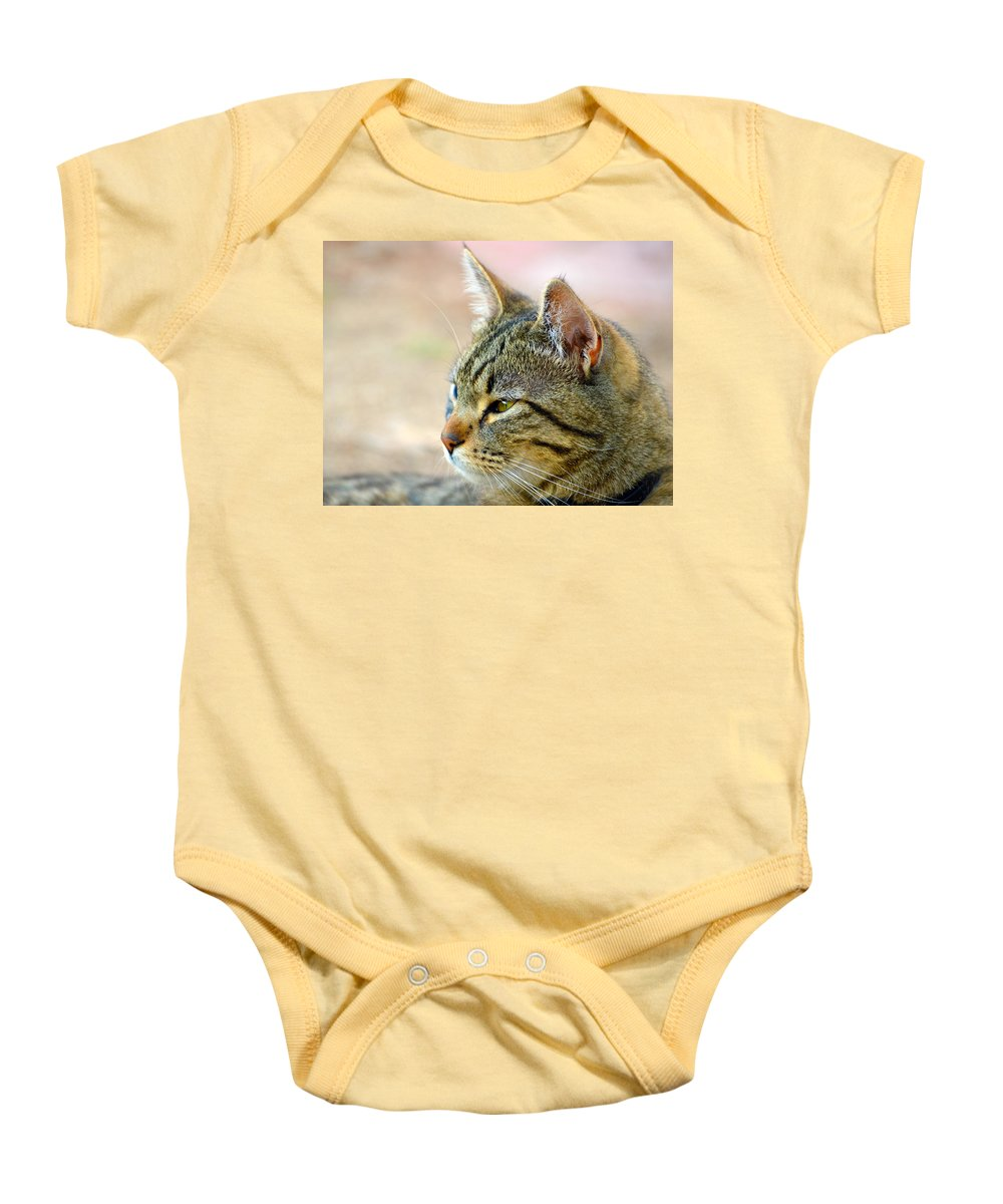 Eyes Baby Onesie featuring the photograph Winston 7 by Brent Dolliver