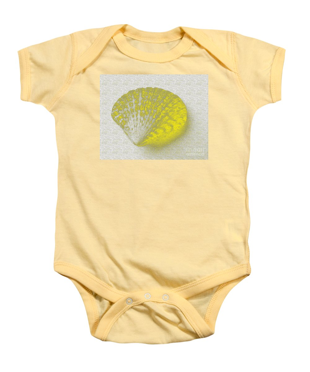 Yellow Baby Onesie featuring the digital art Yellow by Carol Lynch