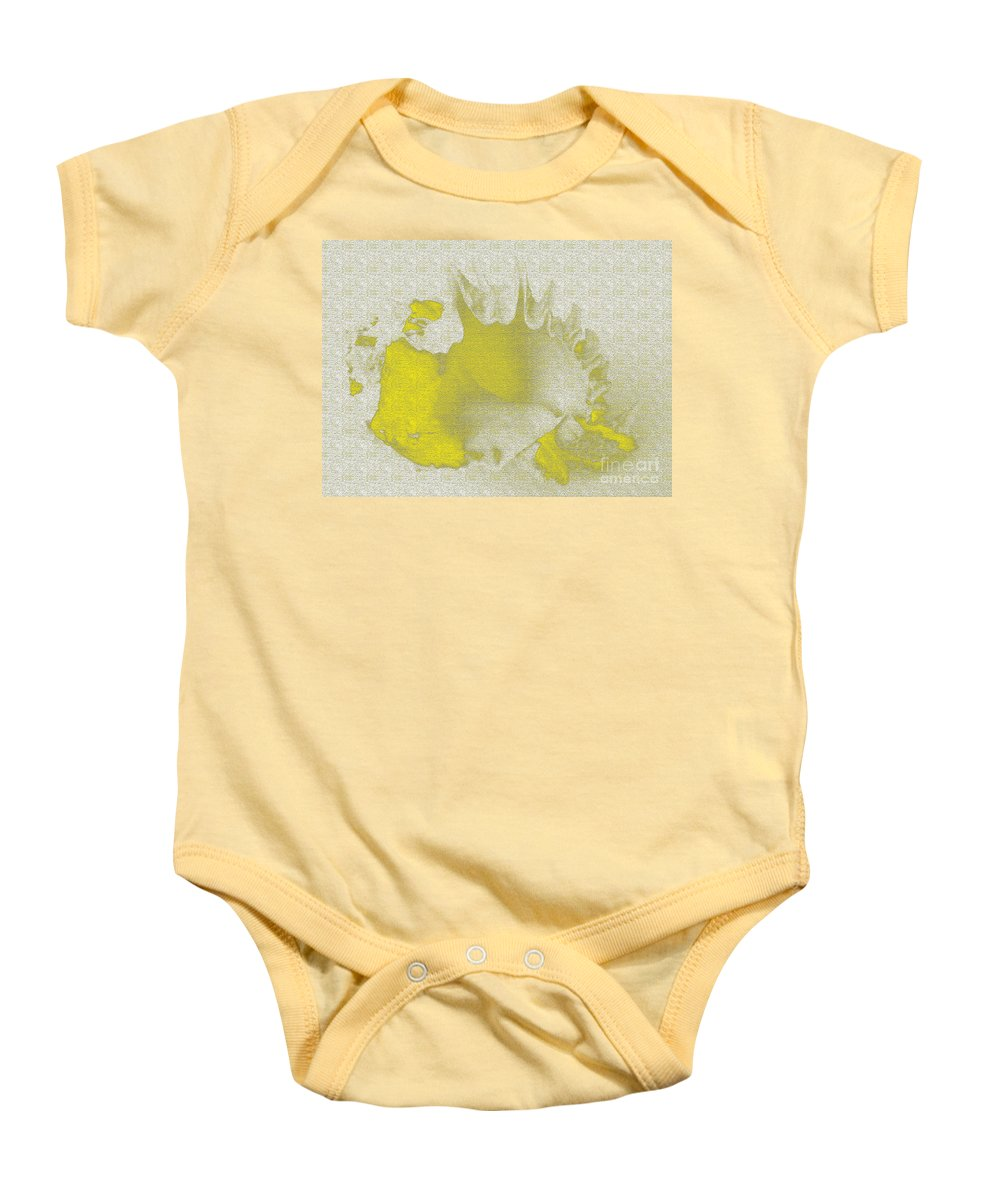 Yellow Baby Onesie featuring the digital art Yellow Shell by Carol Lynch