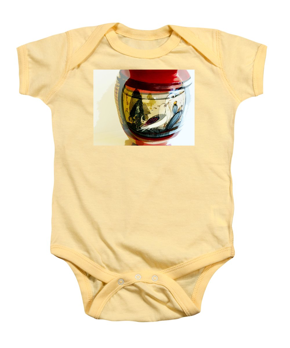Abstract Baby Onesie featuring the photograph At Least Two Sides To Everything by Lenore Senior