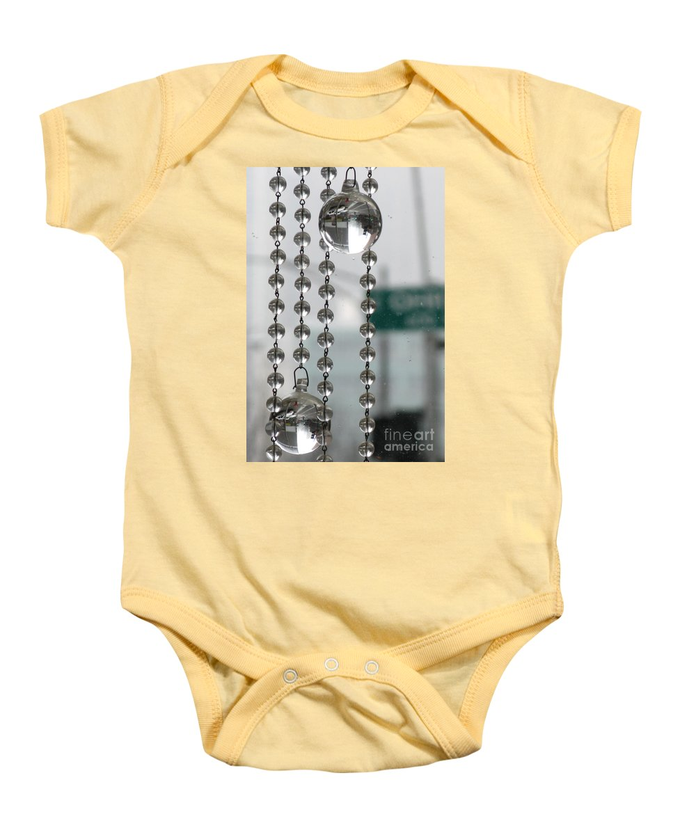 Chicago Baby Onesie featuring the photograph Chicago In The Bubble by Ausra Huntington nee Paulauskaite