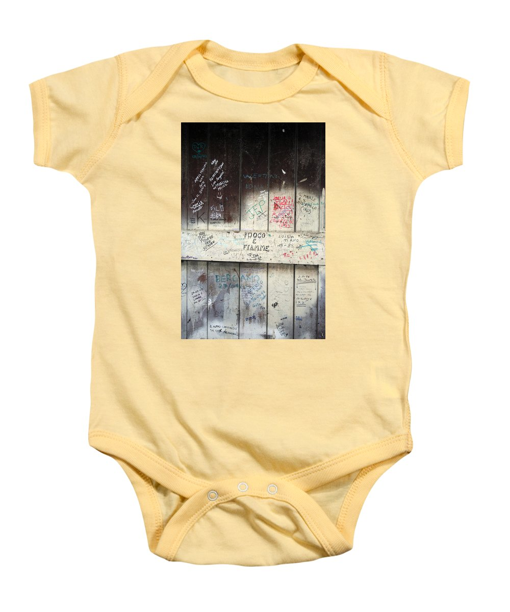 Door Baby Onesie featuring the photograph City 0039 by Carol Ann Thomas