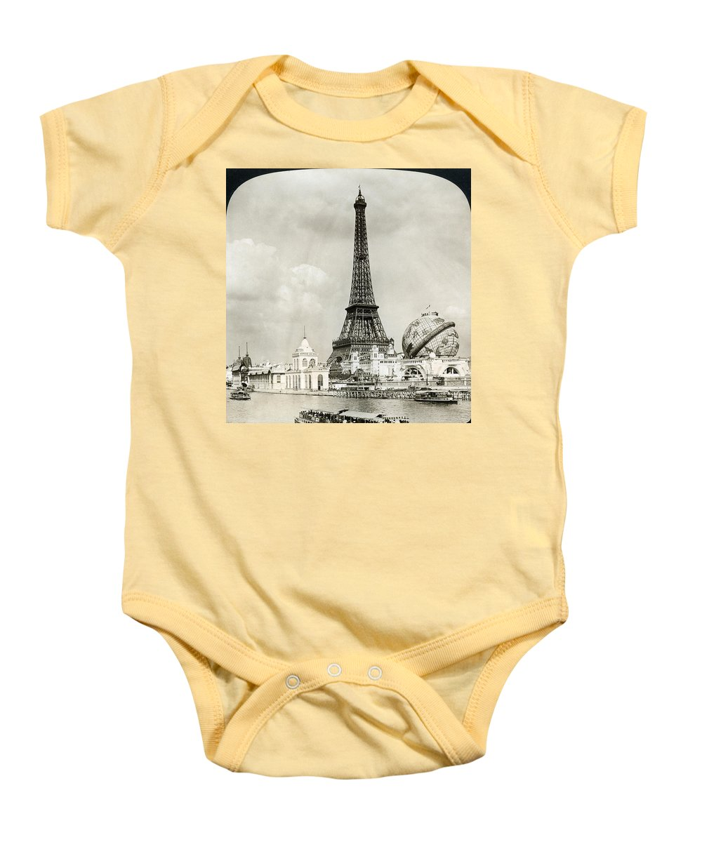 1900 Baby Onesie featuring the photograph Eiffel Tower, 1900 by Granger