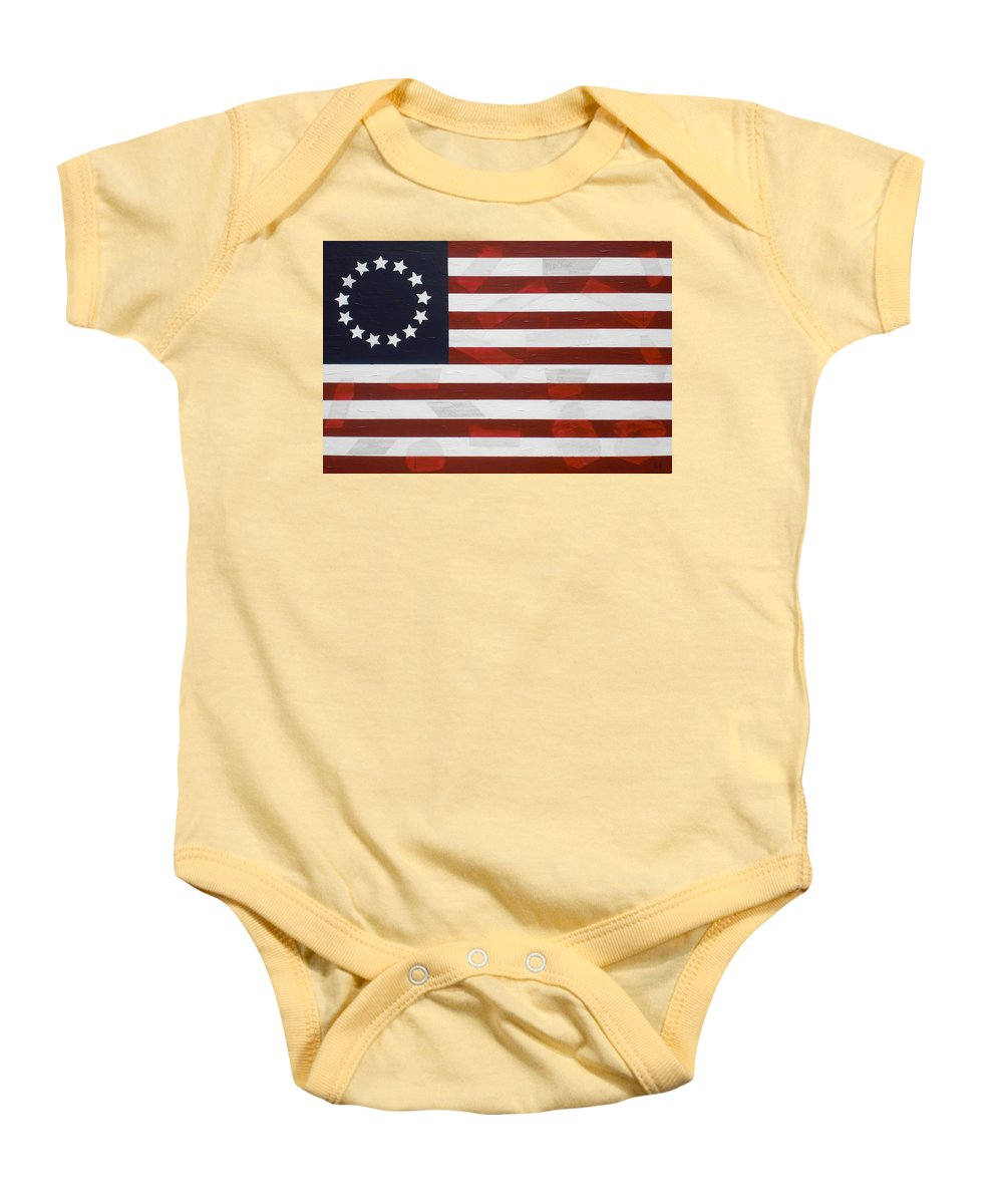 Flag Baby Onesie featuring the painting Flag - Constitution by Kelvin Kelley