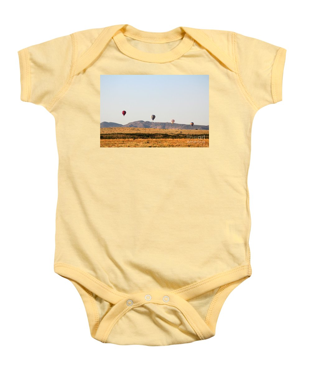 Balloon Baby Onesie featuring the photograph Four In A Row by Alycia Christine