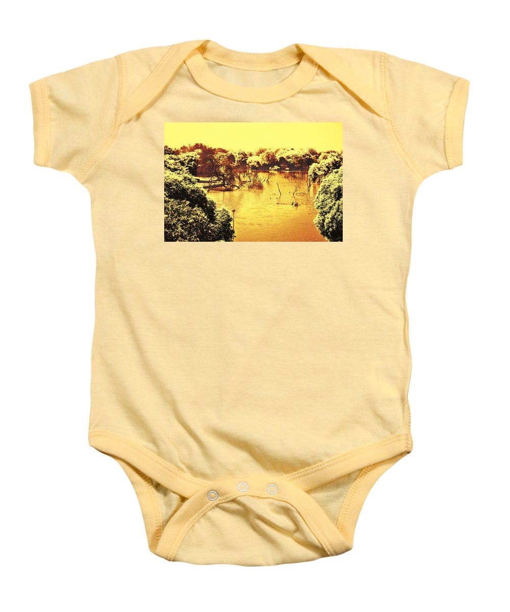 Lake Baby Onesie featuring the photograph Lake In India by Sumit Mehndiratta