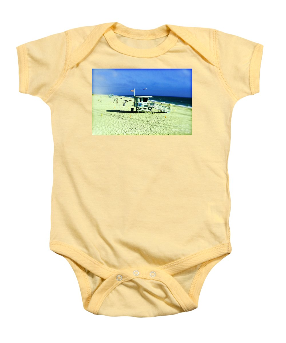 Lensbaby Baby Onesie featuring the photograph Lifeguard Shack by Scott Pellegrin