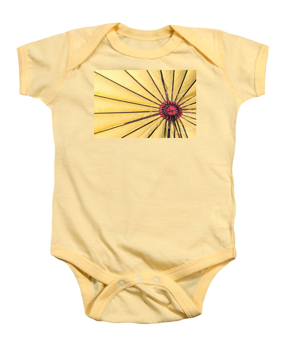 Nylon Baby Onesie featuring the photograph Nylon Sun Rays by Alycia Christine