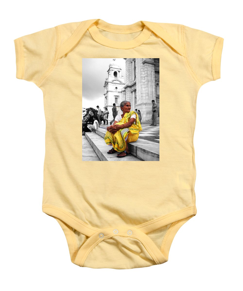 Old Baby Onesie featuring the photograph Old Indian Woman by Sumit Mehndiratta