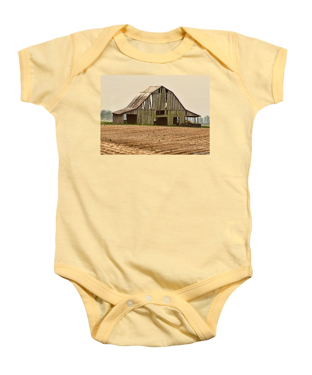 Arcitecture Baby Onesie featuring the photograph Vanishing American Icon by Debbie Portwood