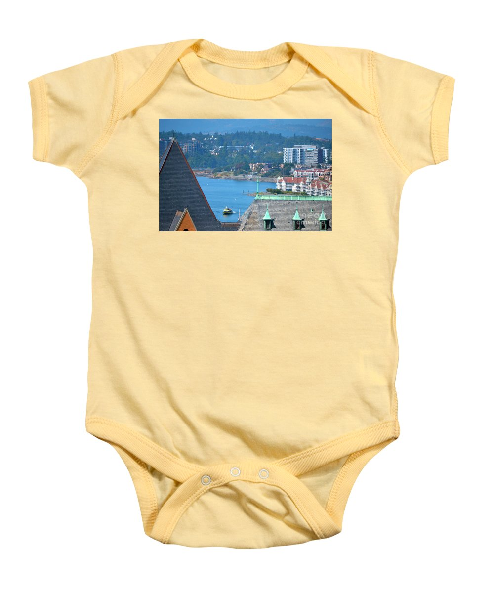 British Columbia Baby Onesie featuring the photograph View From A Window by Traci Cottingham