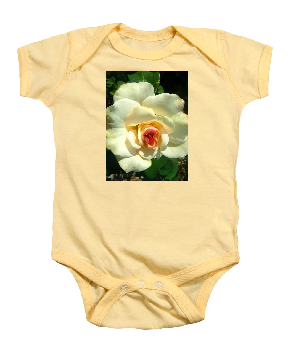 Landscapes Baby Onesie featuring the photograph Wonderland Rose by April Patterson